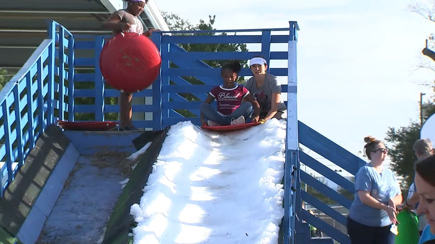 Pinellas County students enjoy their own 'snow day'
