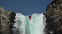 Kayaker plunges down 134-foot waterfall