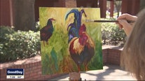 Painting Ybor City's chickens