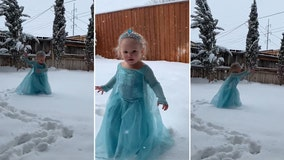 Little 'Elsa' finally has the 'Frozen' performance she always wanted