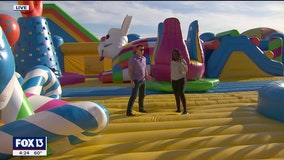 People are jumping for joy as the 'world's biggest bounce house' returns to Tampa