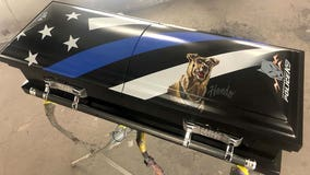 Police dog killed in line of duty to be honored with custom painted casket