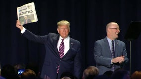 Trump hits Pelosi, Romney on impeachment at National Prayer Breakfast