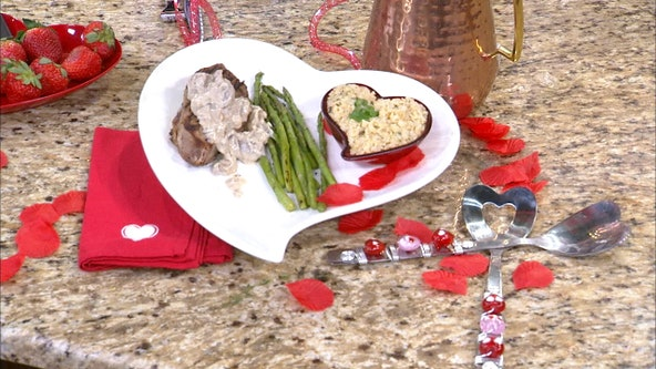 Cook up this steak meal for your Valentine