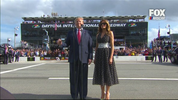 President Donald Trump delivers most famous words in NASCAR