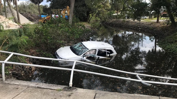 Woman crashes into Hillsborough River inlet, suffers critical injuries