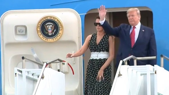President Trump arrives in Central Florida for Daytona 500