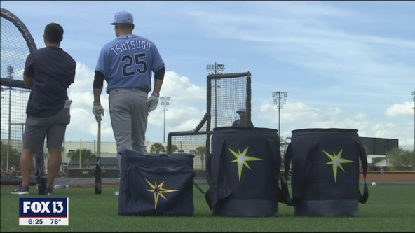 Rays' first full-squad workout includes offseason add Tsutsugo