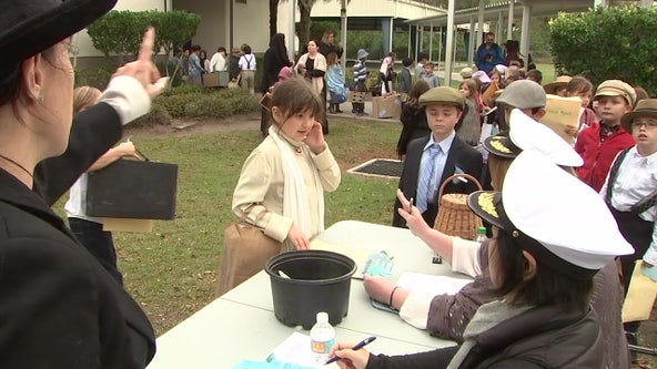 McKitrick Elementary students experience life as Ellis Island immigrants during class project