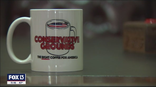 Conservative Grounds coffee shop making coffee great again, owner says