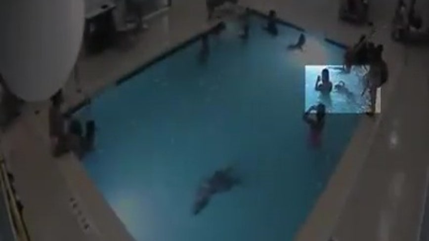 Toddler saved from nearly drowning in Michigan hotel pool