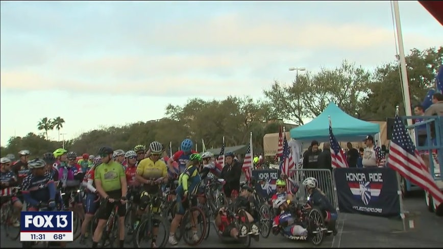 Bicyclists honor vets and first responders