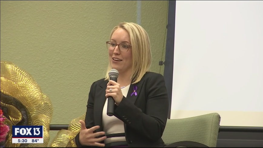 Domestic violence survivor inspires others with her story