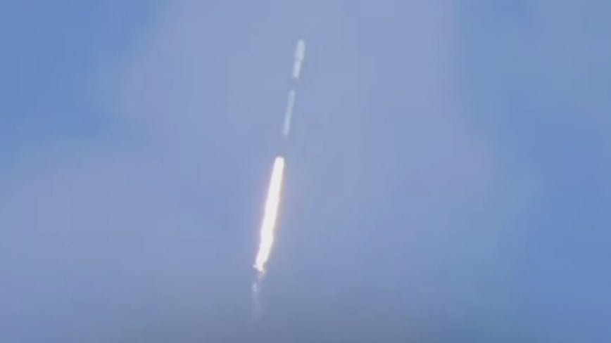 SpaceX successfully launches Falcon 9 rocket but booster fails to land upon re-entry