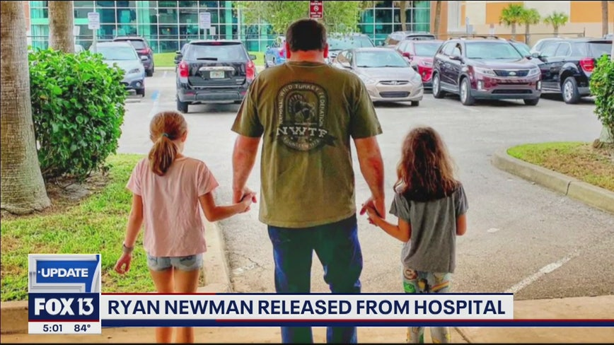 Update: Ryan Newman released from hospital