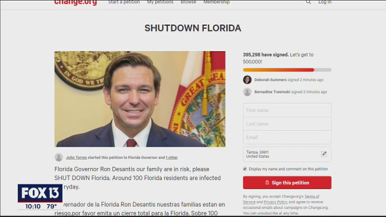 Lawmakers Petitions Urge Desantis To Shut Down Florida As Covid 19 Numbers Rise
