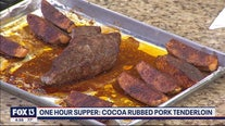 Recipe: Cocoa-rubbed pork tenderloin with sweet potatoes