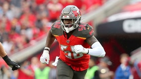 Tampa Bay Bucs place franchise tag on Shaq Barrett after he led NFL in number of sacks