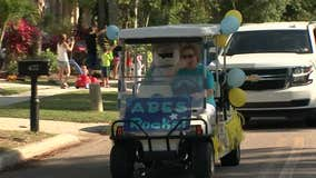 Teachers go on parade to connect with students in Apollo Beach