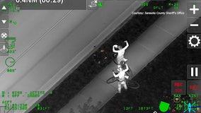 Two men arrested on drug charges after aviation unit spots suspects fleeing deputies in Sarasota