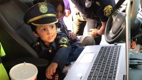 Clearwater police officers surprise 3-year-old boy on his birthday