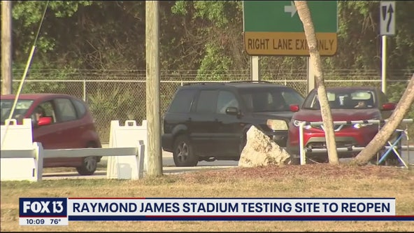 Raymond James drive-through test site reopens Wednesday