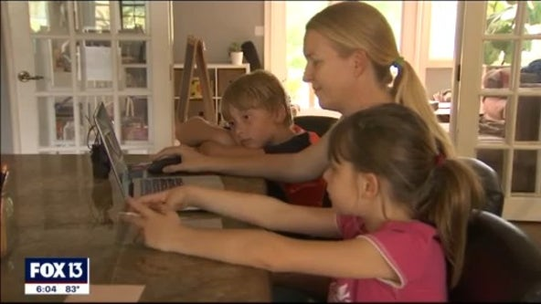 Tampa area students head back to school virtually
