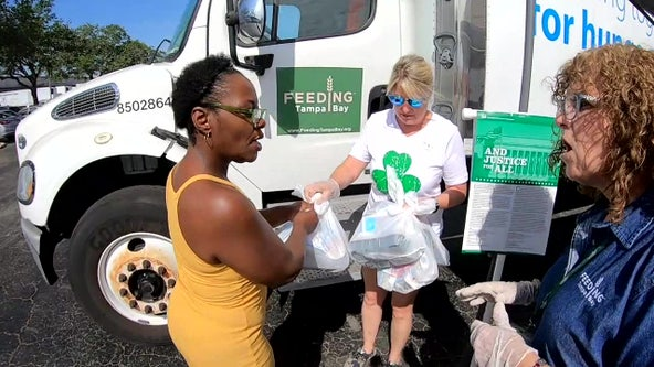 Hundreds throughout Tampa Bay area receive free grab-and-go meals from Feeding Tampa Bay