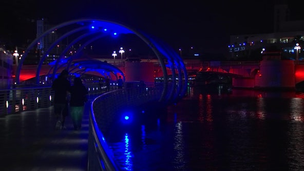 City of Tampa lights up red, white, and blue to inspire patriotic pride during coronavirus pandemic