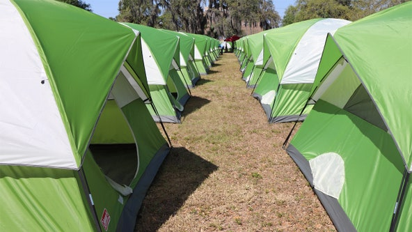 City of Tampa opens temporary tent city for homeless during pandemic