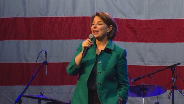 Sen. Amy Klobuchar campaigning for Joe Biden Saturday in Tampa Bay