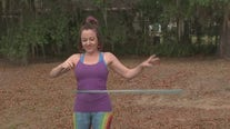 Get a full-body workout while hula hooping