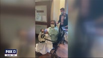 Survivor celebrated as she leaves hospital
