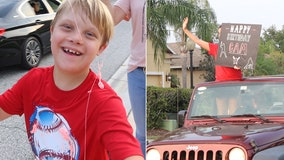 With a big smile on his face, Bradenton's boy birthday becomes extra special with surprise drive-by parade
