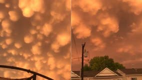 Clouds glow orange after Oklahoma storm, severe weather impacts Houston as threat shifts to South