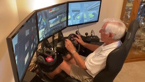 Retired racer, 94, feeds need for speed virtually during quarantine