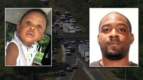 Toddler rescued after Amber Alert search ends in crash on I-4; suspect in in custody after stand-off with police