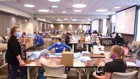 Crafty nurses show off sewing skills in mask-making effort