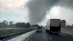 Tornado crosses I-75 in Marion County, smashing trailer and snarling traffic