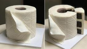 Home baker creates 'stonking' toilet roll cake