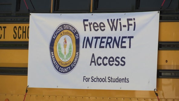 Manatee County school busses outfitted with Wi-Fi allow students to learn online