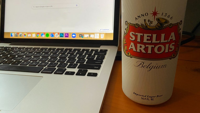 working from home drinking