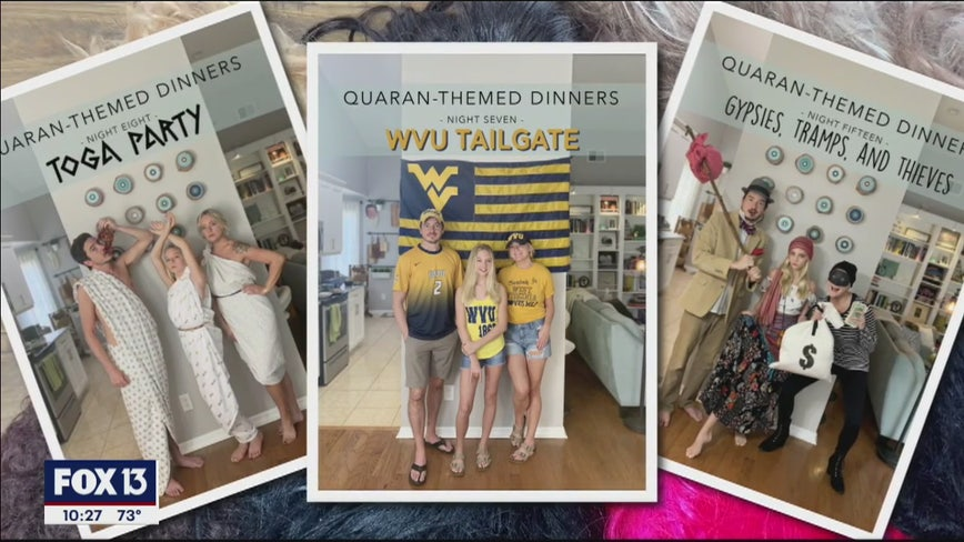 Follow this family's quarantine dinner dress-up parties