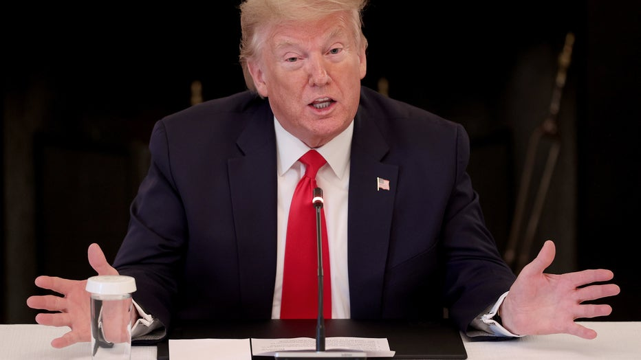 President Trump Meets With Industry Executives To Discuss Re-Opening Of Business