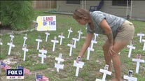 Front yard memorial honors those who didn't make it home