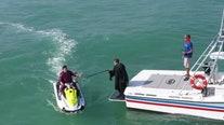Key West high school seniors graduate on jet skis