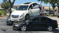 Citrus County driver accidentally reverses onto two parked cars