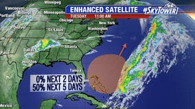 NHC already monitoring area of low pressure east of Florida