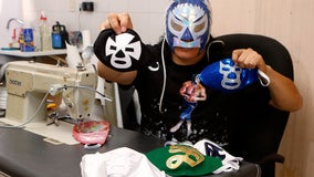 Matches were canceled due to COVID-19, so a Mexican wrestler began making 'lucha libre' face masks