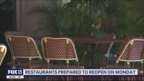 Bay area restaurants getting ready to reopen Monday